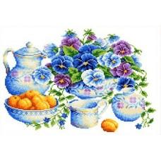 Голубой букет Рисунок на канве 23х30 Каролинка КК 038