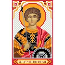 Святой Георгий Победоносец Рисунок на шелке 22/25 22х25 (9х14) Матренин Посад 3037