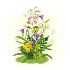 Цветы полевые Набор для вышивания лентами 28х34 (15х17) Матренин Посад 7026/Л