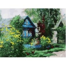 Домик в деревне живопись на картоне 30*40см 30х40 Белоснежка 3091-CS