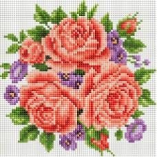 Розы и фиалки Набор для выкладывания стразами 20х20 Белоснежка 459-ST-PS