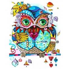 Венецианская сова  живопись на холсте 30*40см 30х40 Белоснежка 292-AS