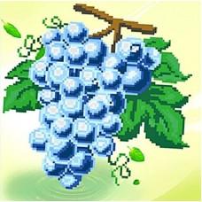 Гроздь винограда набор для частичной  выкладки стразами 31х31 Солнце K-6036