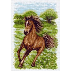 Пейзаж с лошадью Рисунок на канве 28/37 28х37 (19х29) Матренин Посад 1536