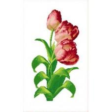Набор Тюльпаны счетный крест 33х53 Каролинка КТКН 130