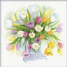 Набор Акварельные тюльпаны 30х30 Риолис 100/008