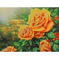 Желтые  розы набор габардин+бисер 28х35 МП-Студия БГ-232