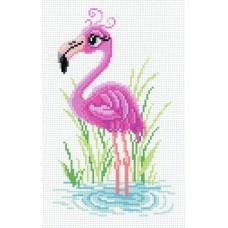 Мечтательный фламинго Рисунок на канве 30х21см 22х14(30х21) МП-Студия СК-005
