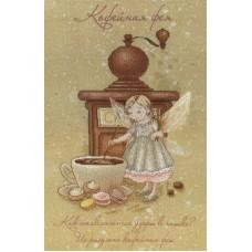 Кофейная фея набор диз.канва+мулине 30х20 МП-Студия РК-516