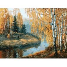 Вот и осень пришла живопись на картоне 30*40см 30х40 Белоснежка 3045-CS