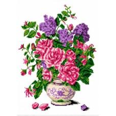 Запах роз Рисунок на канве 23х30 Каролинка КК 054