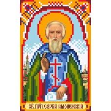 Святой Сергий Радонежский Рисунок на шелке 22/25 22х25 (9х14) Матренин Посад 3029