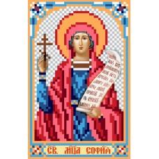Святая Софья Рисунок на шелке 22/25 22х25 (9х14) Матренин Посад 3016