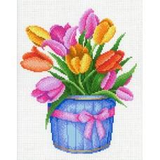 Тюльпаны Рисунок на канве 30х40см 26х20(30х40) МП-Студия СК-091