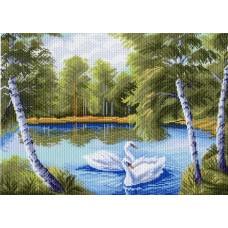 Тихая заводь Рисунок на канве 37/49 37х49 (28х40) Матренин Посад 923