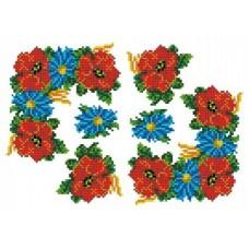 Рисунок-схема на водорастворимом флизелине 19,9х28,8 Каролинка КФО-4004
