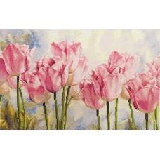 Набор Розовые тюльпаны 40х27 Алиса 13547