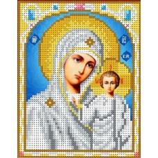 Набор Казанская Богородица бисер 12,5х16 Каролинка КБИН(Ч) 5001