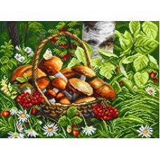 Первые грибы Рисунок на канве 37/49 37х49 (28х38) Матренин Посад 1822