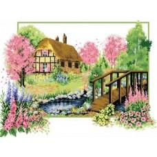 Набор Весеннее цветение канва с рисунком 32х47 Каролинка КТКН 118 (Р)