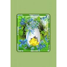 Пасхальная картинка Набор для вышивания с бисером и паспарту 24х26 (14х16) Матренин Посад 0028/БП