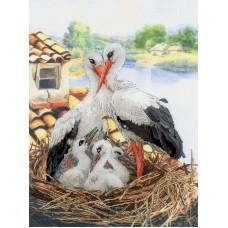Набор Семейство аистов по мотивам картины В.Кандинского частичная вышивка