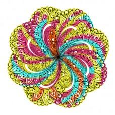 Цветочный узор Набор для вышивания крестом 41х41 (36х36) Матренин Посад 1858/Н