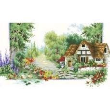Лето набор для выкладывания стразами 65х45 Jing Cai Ge Diamond Painting DIY (Honey Home) 7528