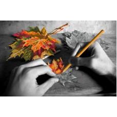 Рисуем осень Канва с нанесенным фоном 37/49 37х49 (26х40) Матренин Посад 1722