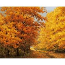 Осенний день  живопись на холсте 40*50см 40х50 Белоснежка 174-AB