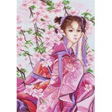 Розовые мечты Рисунок на канве 37/49 37х49 (26х38) Матренин Посад 1153