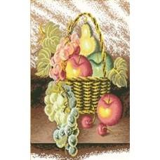 Корзина с фруктами набор для выкладывания стразами 47х57 Jing Cai Ge Diamond Painting DIY (Honey Home) 7340