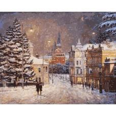 Снег на Волхонке живопись на холсте 40*50см 40х50 Белоснежка 076-AB