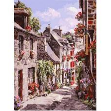 Франция. Динан  живопись на холсте 30*40см 30х40 Белоснежка 254-AS