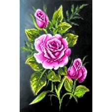 Роза в ночи Набор для вышивания бисером 28х34 (19х29) Матренин Посад 0030/Б