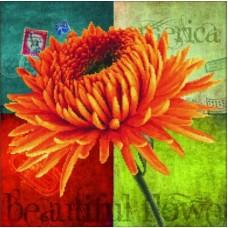Цветок набор для частичной  выкладки стразами 48х48 Солнце HS-8279