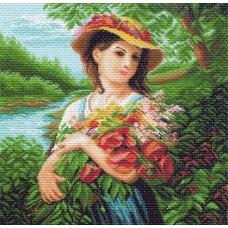 Шикарный букет Рисунок на канве 41/41 41х41 (34х34) Матренин Посад 974