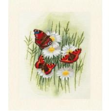 Набор Волшебные бабочки 30х24 Золотое руно БР-020