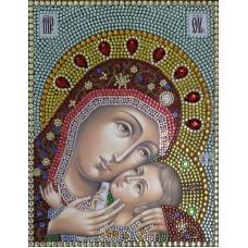 Корсунская Богородица набор для выкладывания стразами 28х22 Преобрана 72