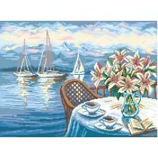 Утренний кофе Рисунок на канве 37/49 37х49 (28х38) Матренин Посад 1869
