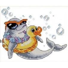 Набор Дельфин канва с рисунком 11х14 Каролинка КТКН 003 (Р)