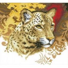 Пантера набор для выкладывания стразами 36х36 Jing Cai Ge Diamond Painting DIY (Honey Home) 1662