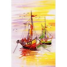 Родная гавань №1 набор диз.канва+мулине 24х36 Овен РК-013