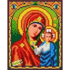 Набор Богородица Казанская бисер 12,5х16 Каролинка КБИН(Ч) 5023/1