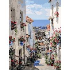 Испания. Михас  живопись на холсте 30*40см 30х40 Белоснежка 251-AS