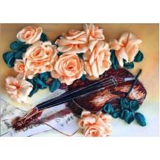 Набор Грация и музыка вышивка лентами 25х32,5 Каролинка КЛ(Н)-3023