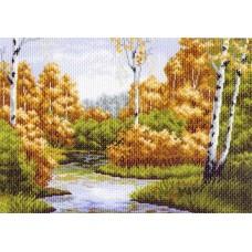 Осенняя заводь Рисунок на канве 37/49 37х49 (27х39) Матренин Посад 1234