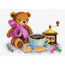 Кофейная услада Рисунок на канве 30х21см 20х15(30х21) МП-Студия СК-004