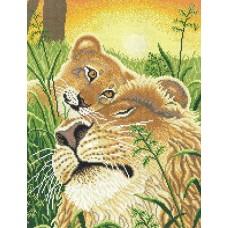 Лев и львёнок набор 29х40 МП-Студия НВ-142