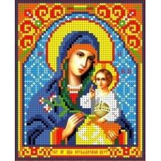 Набор Богородица Неувядаемый цвет бисер 13х16 Каролинка КБИН(Ч) 5073